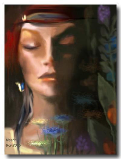 لكل يوم لوحة فنية - صفحة 6 Dreaming_woman